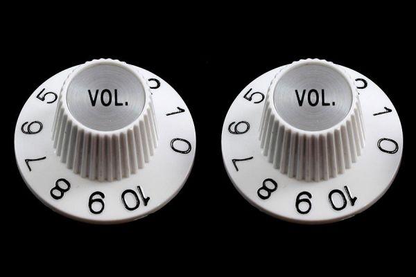 Witch hat Volume Knopf, weiß, Jazzmaster, 1 Stück